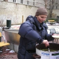 Suppenausgabe zur Fastenzeit