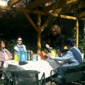 Themenfrühstück TeilnehmerInnen beim Gespräch