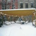 Pergola im Schnee