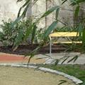 Mariahilfer Ruhe- und Therapiepark Bambus und Bank
