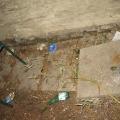 Putz- und Renovierungsaktionen im Park September 2009 - Vor dem Mistaufkehren