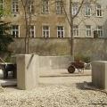 Umbauarbeiten im Park - Errichtung der Sitzschnecke