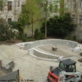 Umbauarbeiten - Blick von oben auf die Baustelle