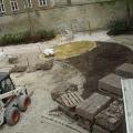 Umbauarbeiten im Park - Blick von oben auf die Baustelle - Teil2