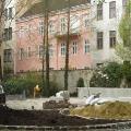 Umbauarbeiten im Park