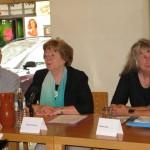 Heinrich Hofmann, Herta Wessely, Karin Jahn am Podium